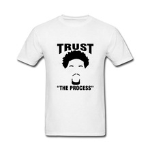 2017 Natural Cotton Joel Embiid Trust The Process Funny Cotton T Shirt for men