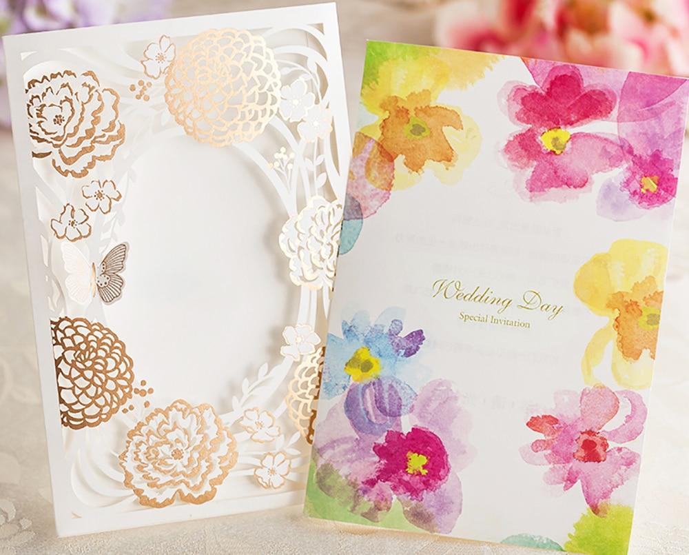12 Pack Design Elegante Hochzeitseinladungen Laser Cut Schmetterling  Dekorative Blume Druckbare Einladungskarten In 12 Pack Design Elegante ...