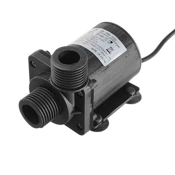 DC 12V 5 5M 1000L H Brushless Motor Submersible Hot Water Pump Solar Cooling Small volume