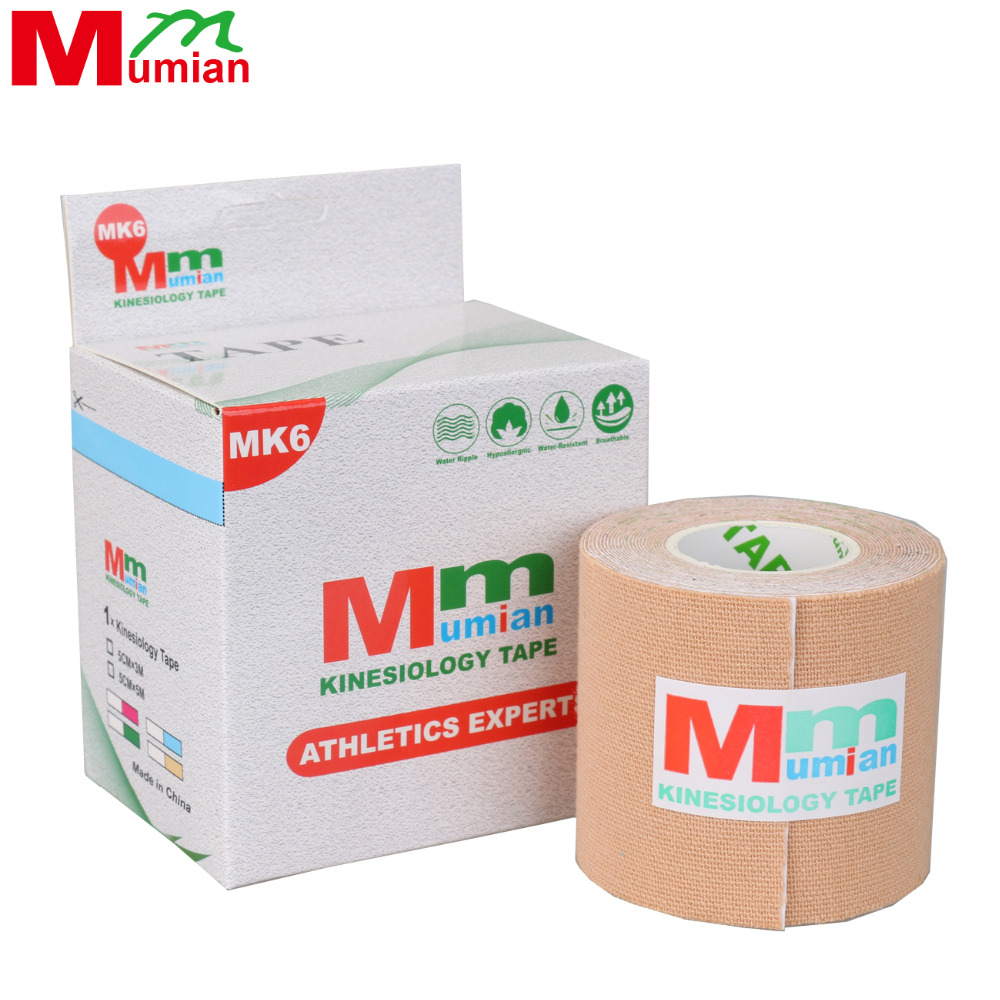 2017 Hot Sale Mumian 5cm*3m Kinesio Tape Kinesiology Cotton Elastic Adhesive Muscle Sports Roll Care Knee Bandage With Case Mk6