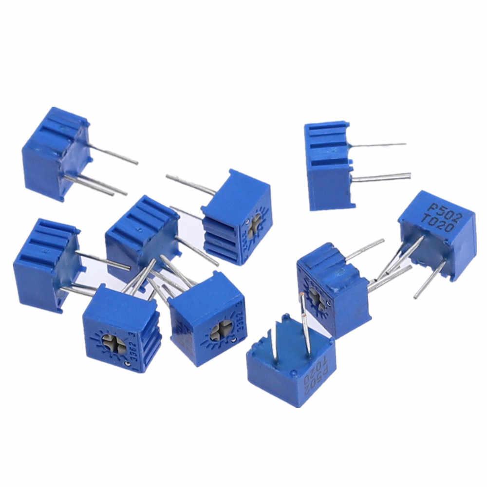 100pcs 3362P-103 10K Ohm 3362P Trimpot Trimmer Potentiometer