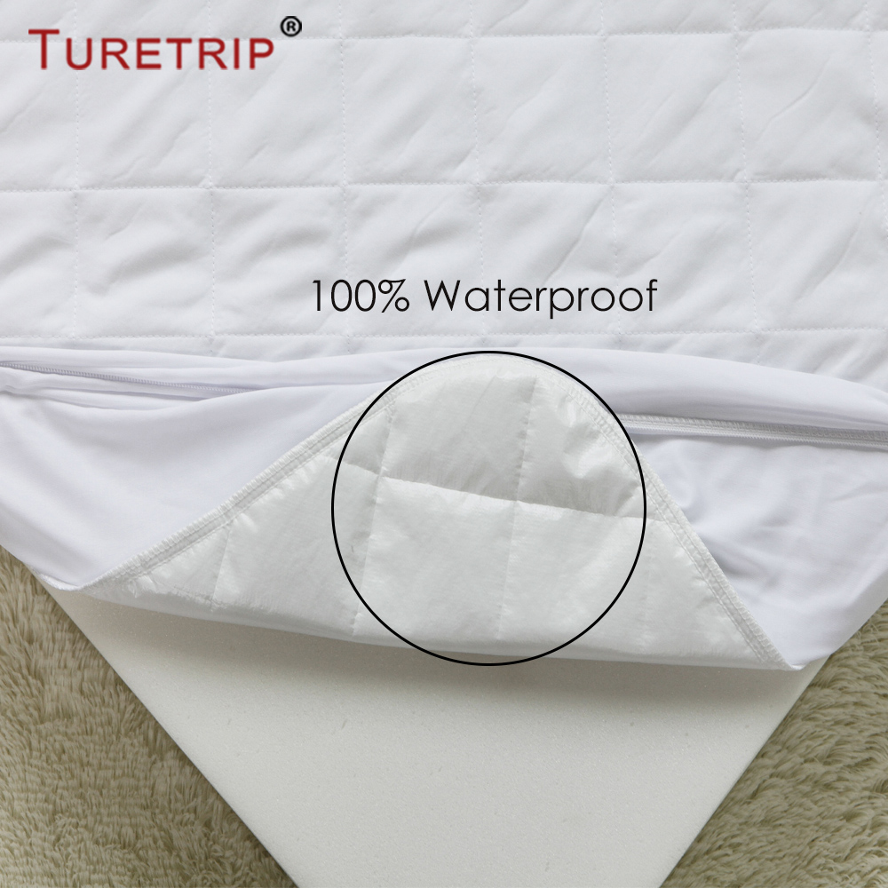 turetrip cotton quilt waterproof crib mattress pad cover baby