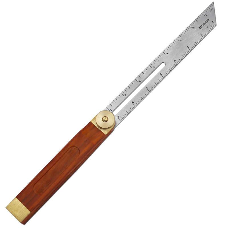 Wood Handle Sliding Bevel Angle Ruler Gauge Woodworking Marking Protractor SUR