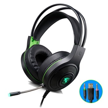 V5000 Stereo Gaming Headset Noise Cancelling Over Ear Headphones with Mic LED Bass Surround Soft Memory Earmuffs for Laptop