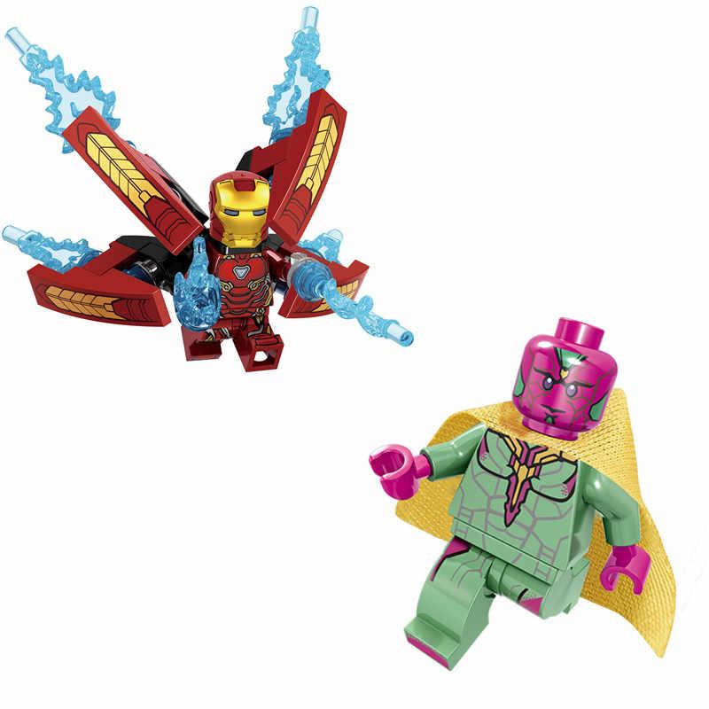 Avengers League Blocco di Azione Marvel DC Super Heroes Figure Legoing Blocchi Hulk Capitan America Superman Batman Thor di Ferro Man