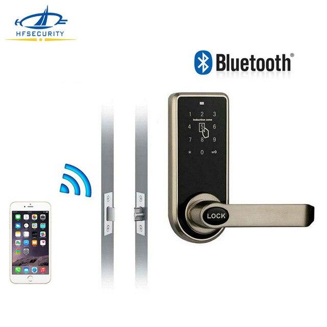 [HFSECURITY ] Smart Door Lock Bluetooth Mobile Phone APP Locks Home  Security Electronic Password Smart