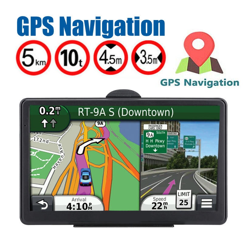 "Newest 7/"" Truck Car GPS Navigation Navigator 4GB Bluetooth AV-IN 2017 World Map"