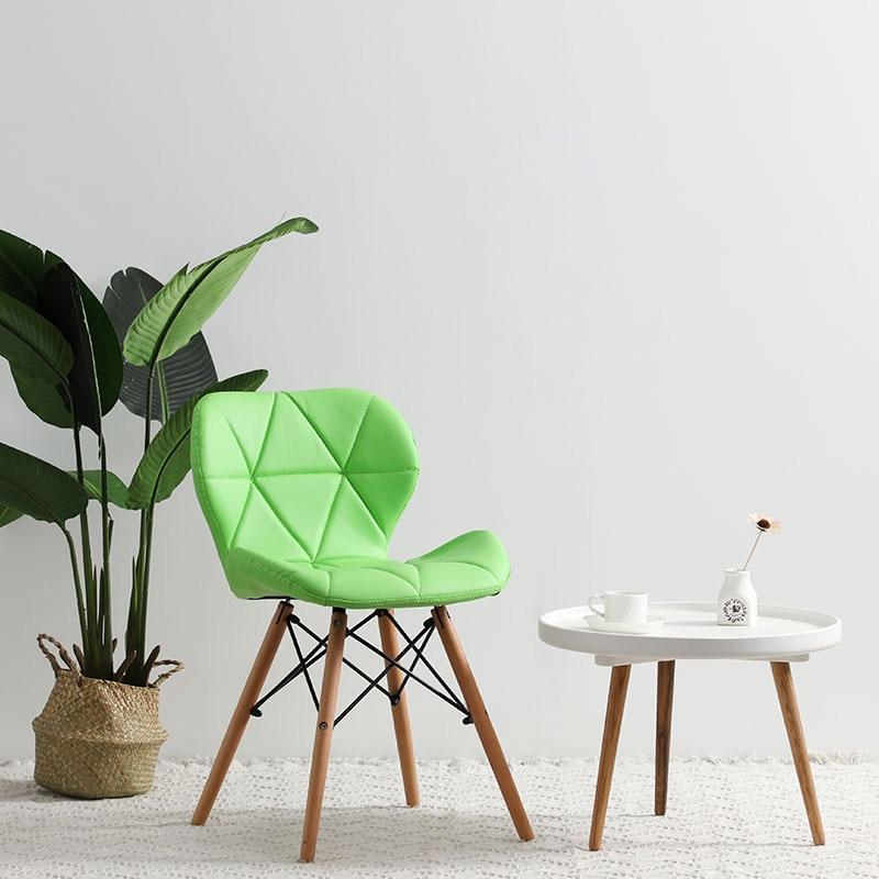 Современный минималистичный стол компьютерный стул домашний Ресторан обеденный стул из твердой древесины скандинавский диван спинка макияж пляж - Цвет: G