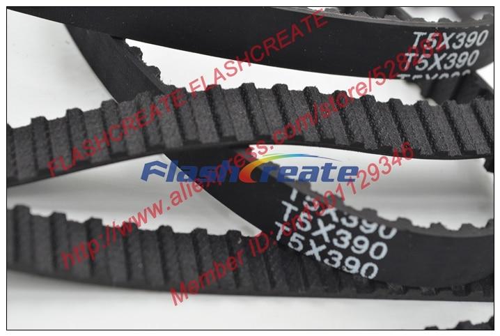390 mm long x 12 mm large T5-390-12 T5 Precision PU Courroie De Distribution