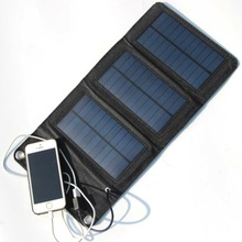 Solar Panel Fordable and Portable Solar Charger 5W USB Outdoor Folding Charger Bag Charging For Xiaomi iphone/samsung/huawei/htc