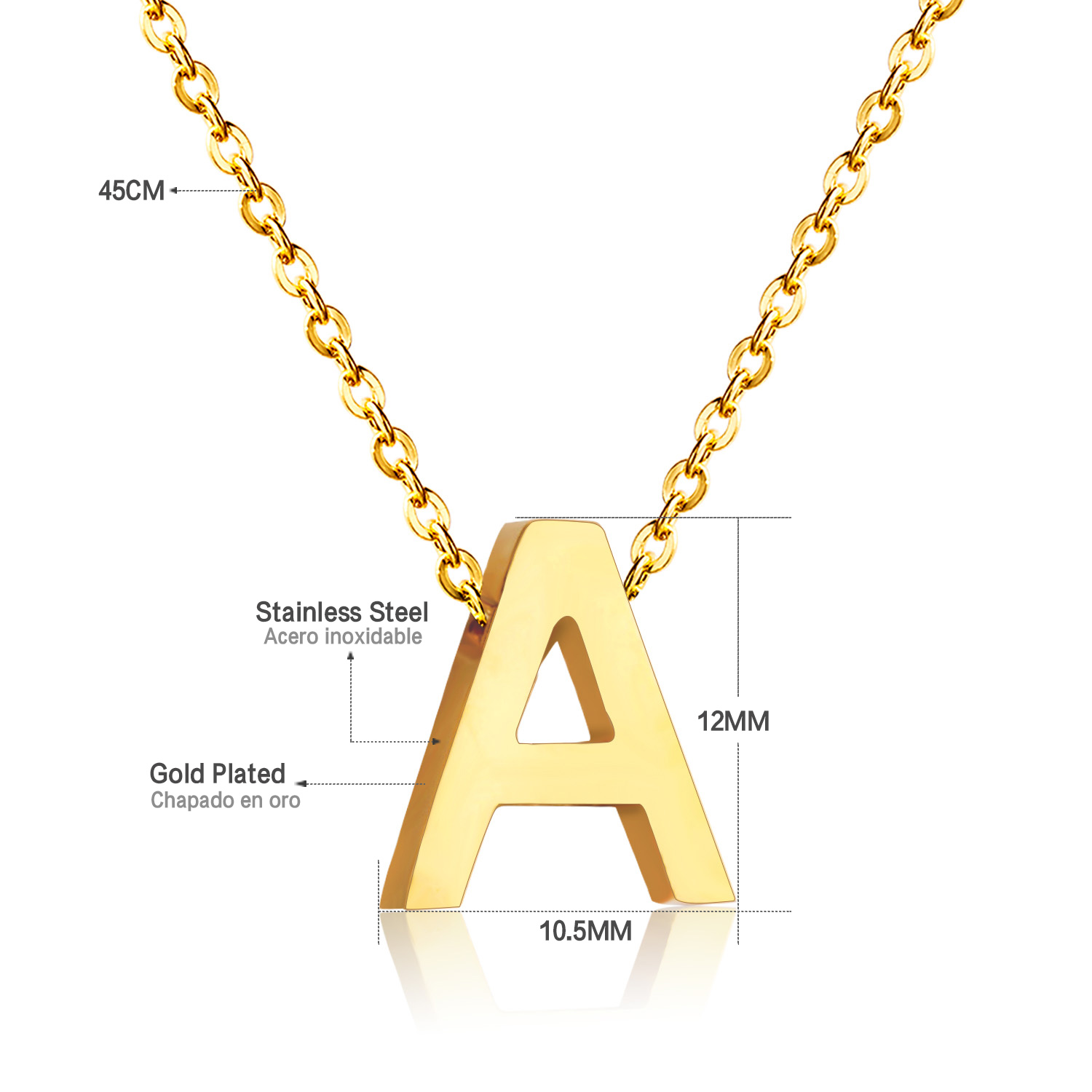 name listing gold set il personalized solid fullxfull alphabet custom chain singapore yellow letter necklace cursive pendant charm