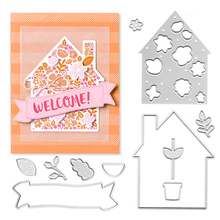 Julyarts Pretty House Stamps and Dies for Scrapbooking Cutting Card Embellishments Making