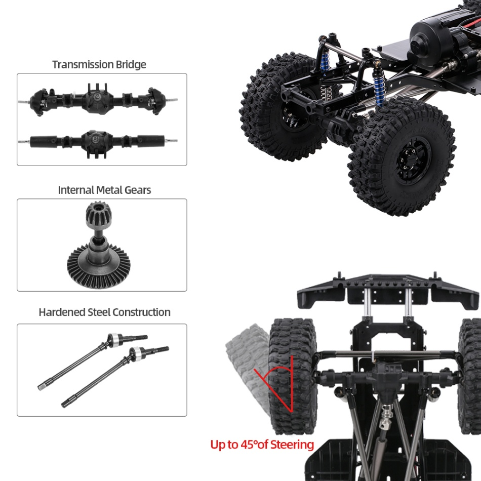 AUSTAR 313mm Wheelbase Chassis Frame for 1/10 AXIAL SCX10 II 90046 90047 RC Crawler Climbing Car DIY-in Parts & Accessories from Toys & Hobbies    3