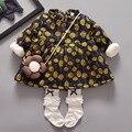 Toddler Girl Dresses Yellow Baby Clothing Thick Fleece Kids Winter Thermal Warm Dresses for Girls Dandelion Print Children Dress