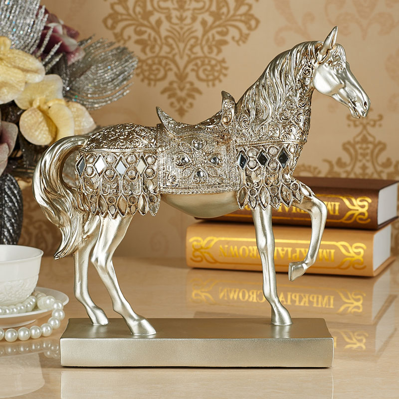 Home Furnishing Ornaments Horse Statue Figurine Living Room Bar Furnishings Retro Crafts Business Gifts Decor Sculpture In Figurines Miniatures