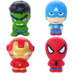 Новый Симпатичный Super Hero мягкими Человек-паук Железный человек Халк замедлить рост мягкие для сжатия Игрушка хлеб Ароматические стресса
