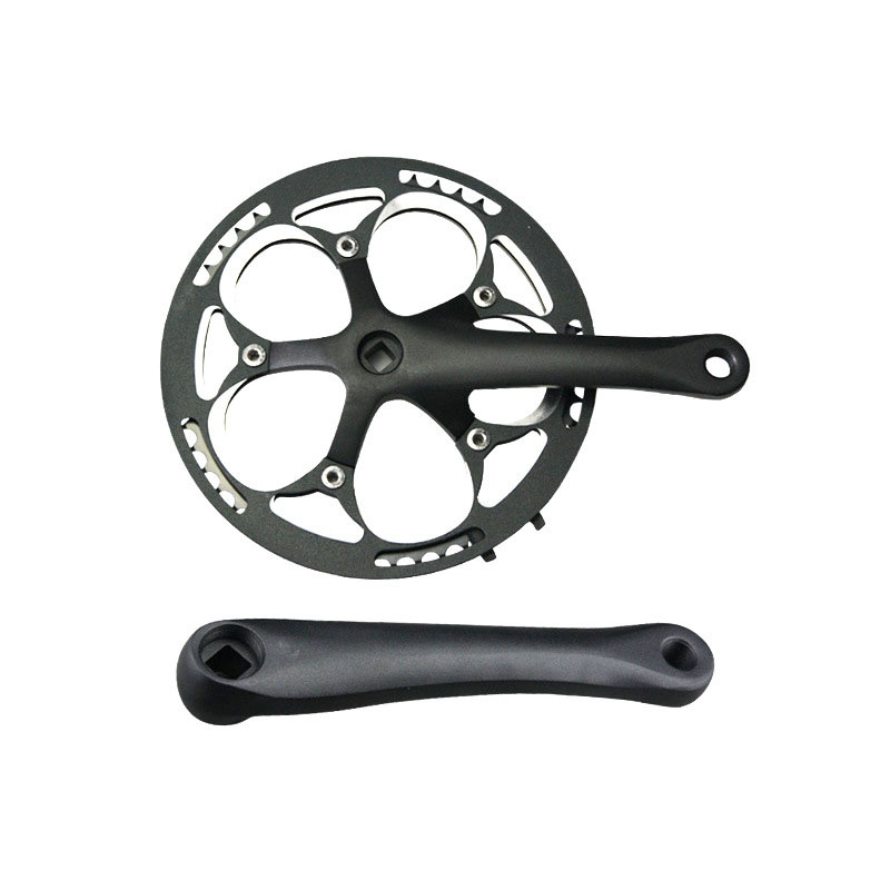 bike Crankset Bicycle Parts mountain bike BMX Cranks chain wheel BCD130mm square hole 52T single speed  MTB chainwheel bicycle chain wheel 34t 36t bicycle sprocket montanha bike crank wheel mtb bike cranks alloy crankset 170mm