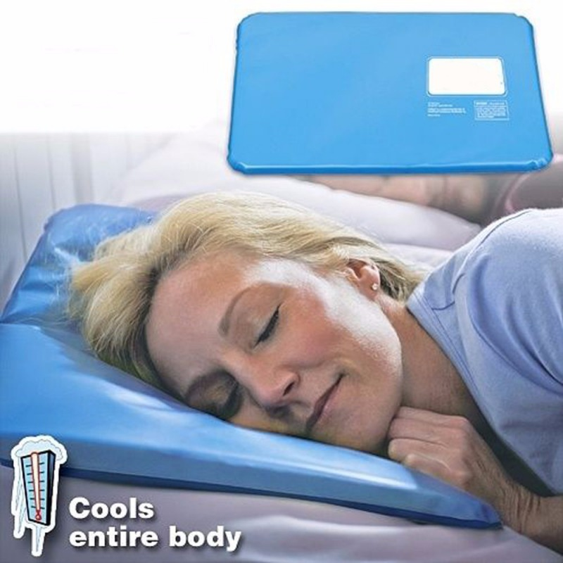 Hot Summer Ice Pad Massager Therapy  Sleeping Aid Insert Chillow Pad Mat Cooling Muscle Relief Pillow
