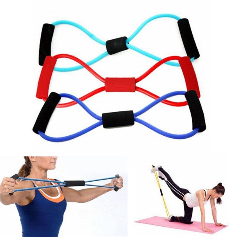 Yoga Resistance Bands Tube Sport Exerciser Fitness
