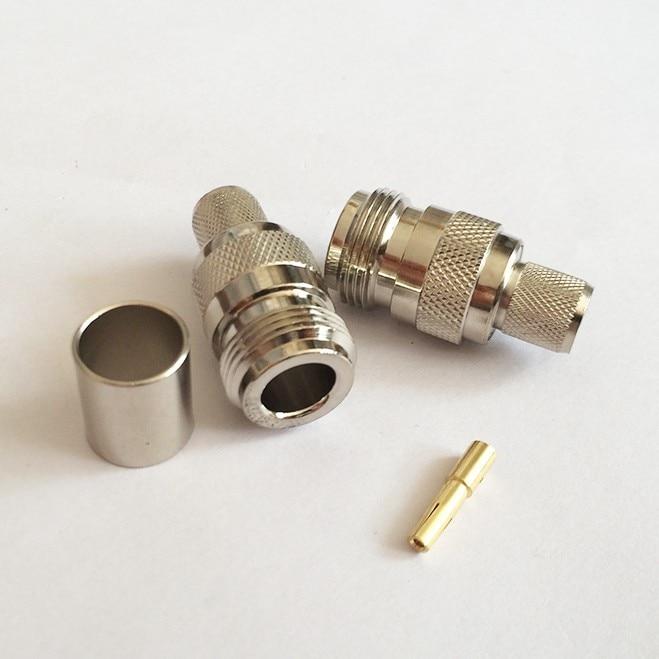 1 шт. N Тип гнездо разъем обжимной для LMR400 RG8 кабель прямой торговля Быстрая перевозка груза