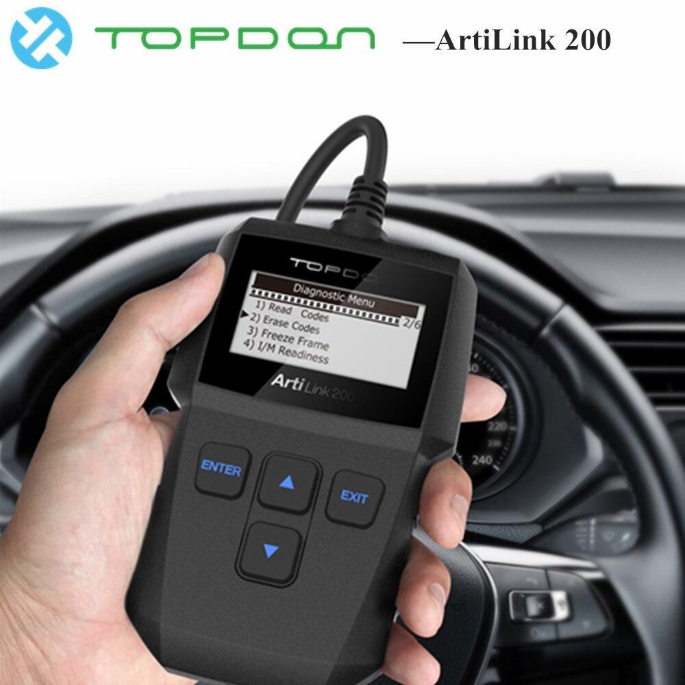 TOPDON ArtiLink 200 OBD2 Scanner Leitor de Código de OBDII EOBD Carro Ferramenta de Diagnóstico Automotive Motor Analyzer para Cdt melhor do que X431