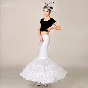 Image 5 - Mermaid Underskirt Petticoat Wedding Dress Accessories for Bridal Puffy Bottom Tulle One Hoop Crinolinas Para Boda