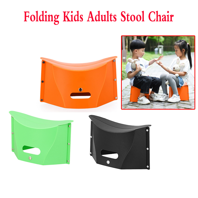 Folding Kids Adults Stool Chair Seat Ultralight Fishing PP Camping Portable Hiking 3 color