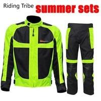 Hot Sale 2017 Riding Tribe Summer Winter Breathable Mesh Moto Jacket Men Motorcycle Reflective Racing Jacket