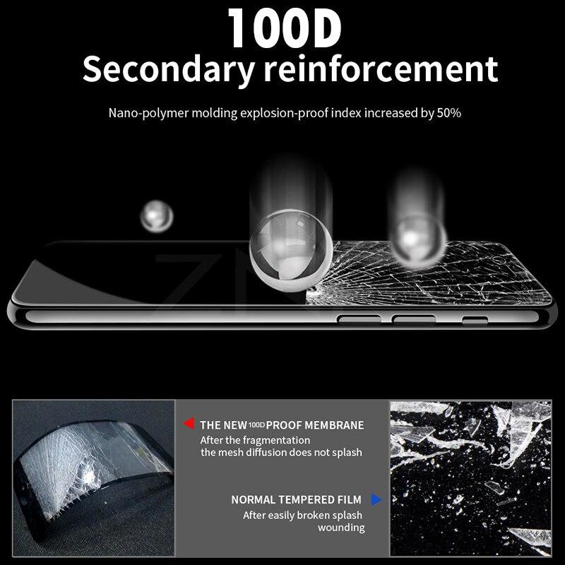 Image 4 - ZNP 100D Защитное стекло для iPhone 7 Защита экрана iPhone 8 Xr Xs Max закаленное стекло на iPhone X 6 6s 7 8 Plus Xs стекло-in Защитные стёкла и плёнки from Мобильные телефоны и телекоммуникации