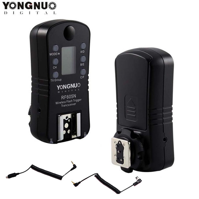 YONGNUO RF 605N RF605N RF 605 Wireless Flash Trigger for Nikon D7100 D7000 D5300 D5100 D5000