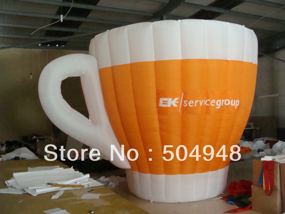 Inflatable Coffee Cup For Advertisement 2m inflatable tomato balloon for advertisement other vegetables and fruit shapes