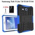 Новый силиконовый чехол для Samsung Galaxy Tab 3 Lite 7 0 T110 T111 7 0 дюймов чехол для Samsung Tab E Lite 7 SM-T113 T116 Чехол + пленка + ручка