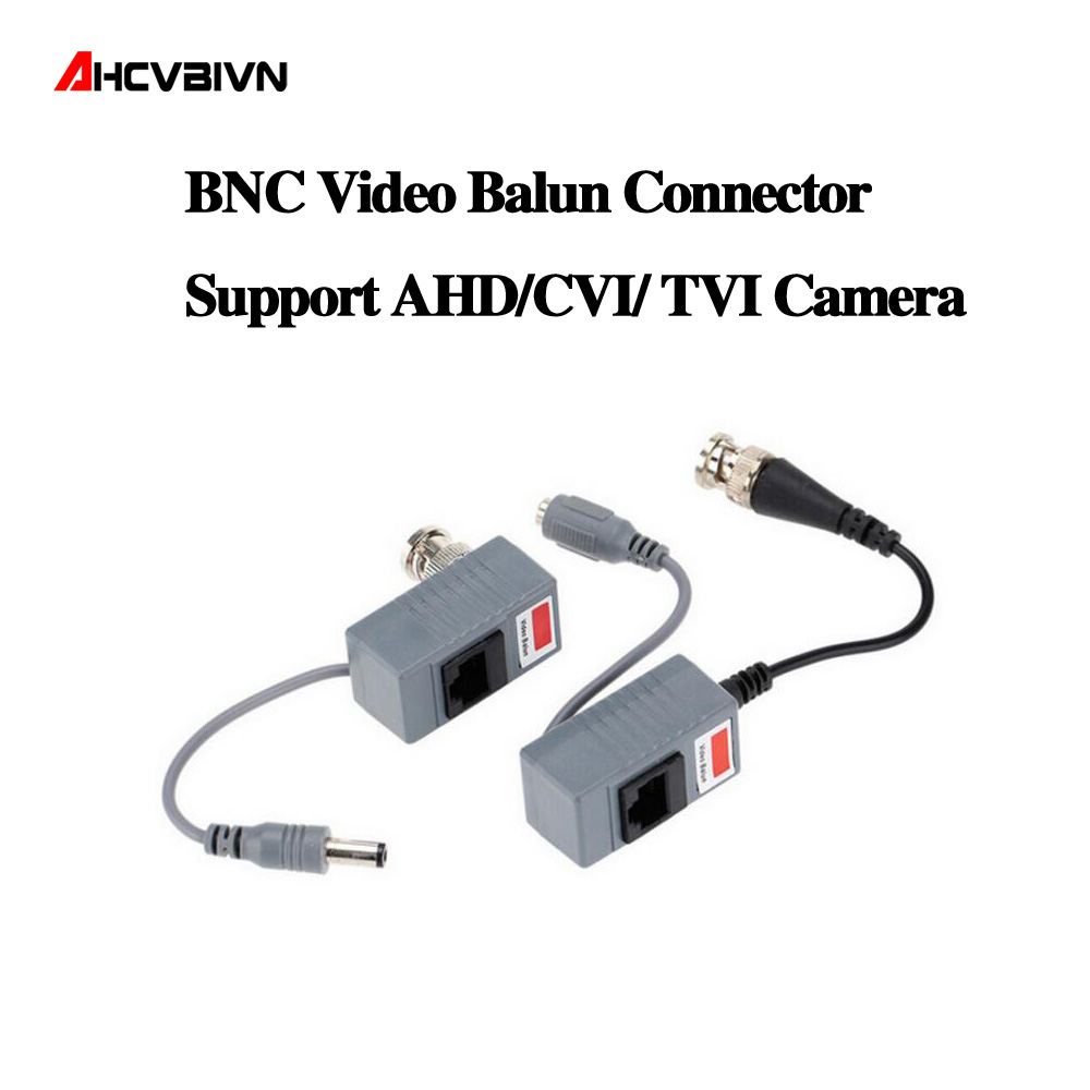 10pcs CCTV Camera Accessories Audio Video Balun Transceiver BNC UTP RJ45  Video Balun with Audio and Power over CAT5/5E/6 Cable