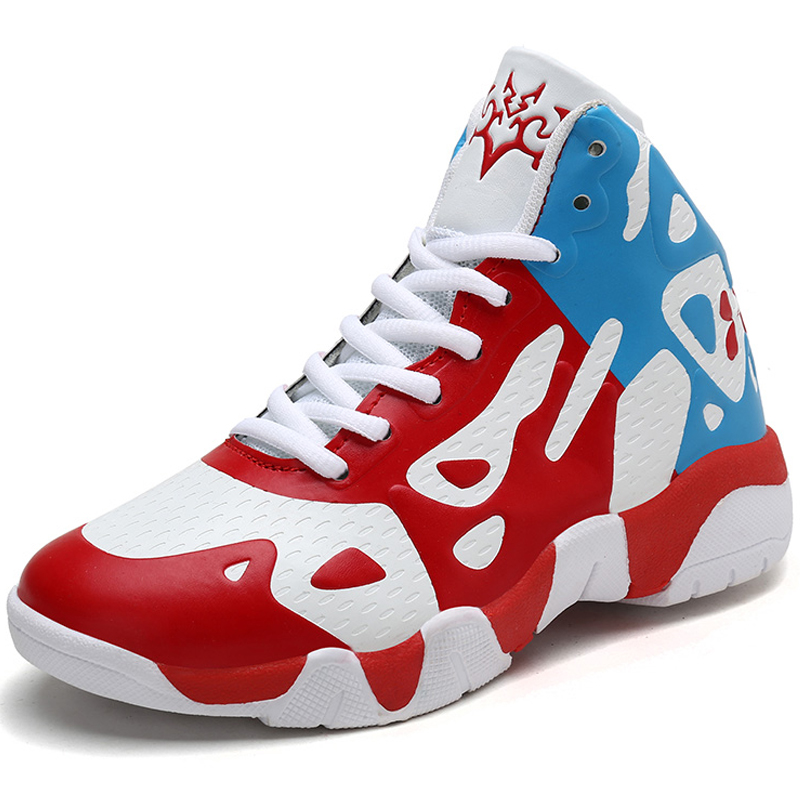 Basketball Shoes Boys Non-slip High Top Rubber Kids Sneakers Footwear Children Sports Outdoor Shoes Students Basket Ball Shoes(China)