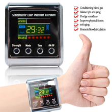 Healthcare 650nm laser light wrist Diode low level laser Physiotherapy therapy LLLT For diabetes hypertension Rhinitis treatment cheap Raiuleko Composite Material Hand Massage Relaxation Laser Therapy Watch US EU As The Picture Shows With Retail Box No Box
