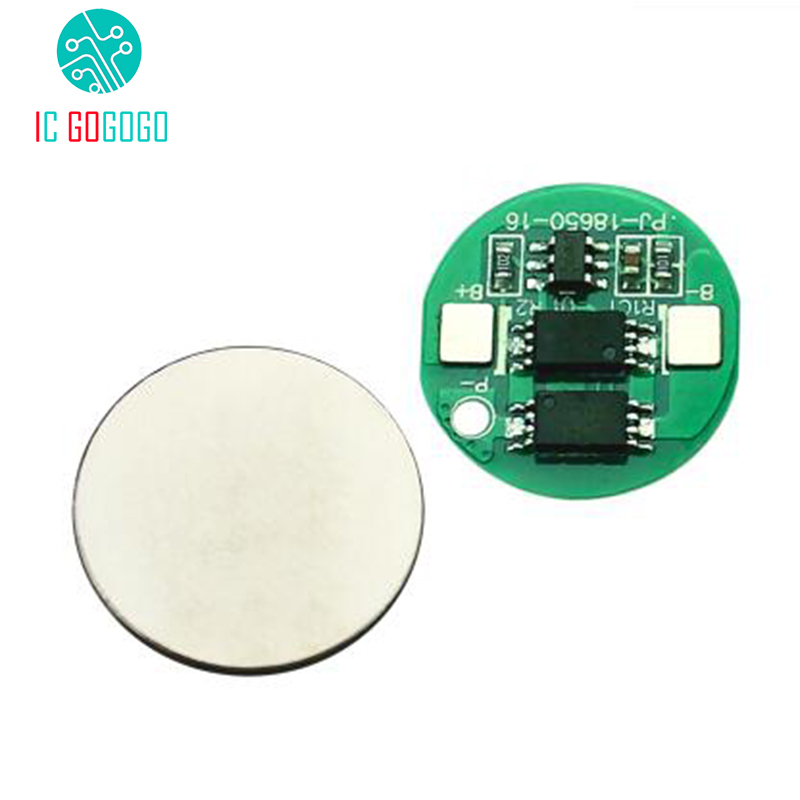 5 pcs Round Double MOS 4A 18650 Battery Protection Board