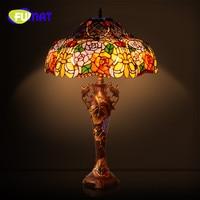 FUMAT American Retro Bedroom Bedside Lamp Rose Luxury Home Tiffany Study Living Room atmosphere sofa Table Lamp