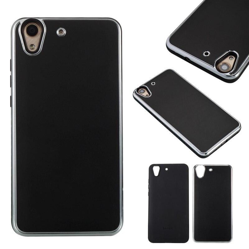 Para huawei y6ii accesorio del teléfono cubierta de la cáscara 2 en-1 metal + tp