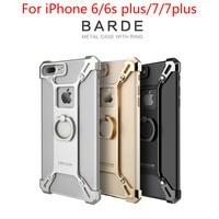 NILLKIN Barde Metal Case Voor iPhone 6 6 s 6 plus 7 7 plus Case Cover Bumper Aluminium Achterkant met Ring Telefoon Houder