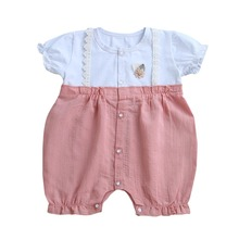 Summer Baby Kimono Rompers Girls Boys Japanese Tracksuit Kids Casual Newborn Infants Cotton linen Jumpsuits
