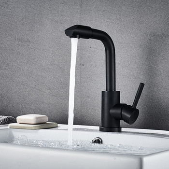 LIUYUE Kitchen Faucets Copper Black 360 Degree Rotate Kitchen Faucet Bathroom Basin Faucet Cold Hot Water Crane Sink Mixer Taps