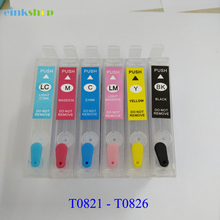 T0821 T0821N Ink Cartridge For Epson R270 R390 TX650 T50 T59 TX720 TX700 RX610 RX590 RX615 Printer T0821 - T0826