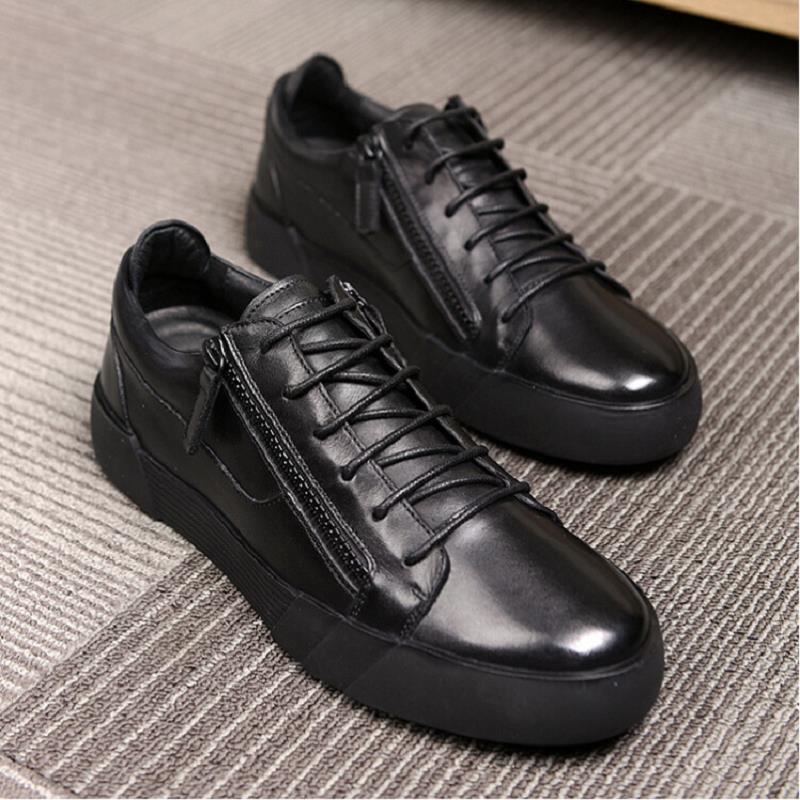 Caminhada Chaussure De Qualidade Preto Dos Homens Sapatos Para Moda Nova Mycolen Casuais top Marca Alta Superior Couro Vaca Os Zq5wW1U