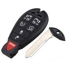 4 кнопки Uncut Клинок удаленной машине ключ Установите чехол для Chrysler Jeep Commander Grand Cherokee Брелок Обложка установите ключ основа