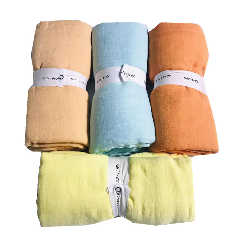 Pure 70% Bamboo+ 30% Cotton Baby Swaddle Wraps Cotton Baby Muslin Blankets Newborn 100% Bamboo Muslin Quilt