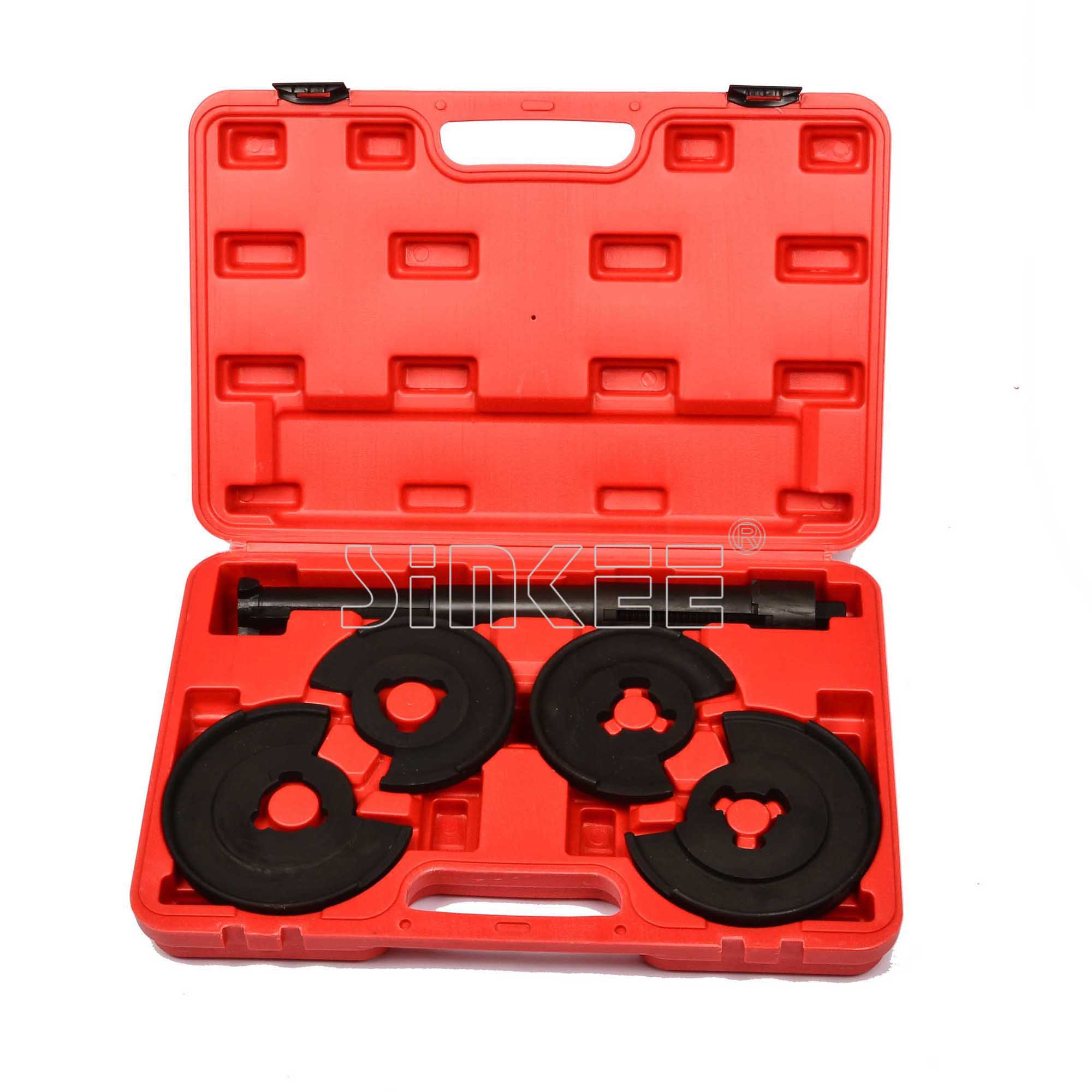 все цены на For Mercedes Benz 5pc Coil Spring Compressor Telescopic Repair Tool Kit Strut Tool W123 W124 W202 SK1076 онлайн