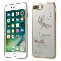 IPhone7Plus KINGXBAR Star Series Diamond PC Back Case For IPhone 7 Plus 5 5 Jade Dragonflies