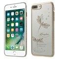 Kingxbar iphone7plus estrela da série diamante pc back case para iphone 7 plus 5.5-jade libélulas
