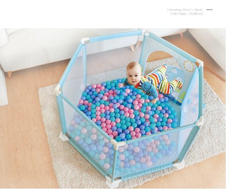 Ultra-grand bébé enfants jouer clôture bébé ramper Pad étape garde-corps sécurité clôture océan balle jouets ménagers