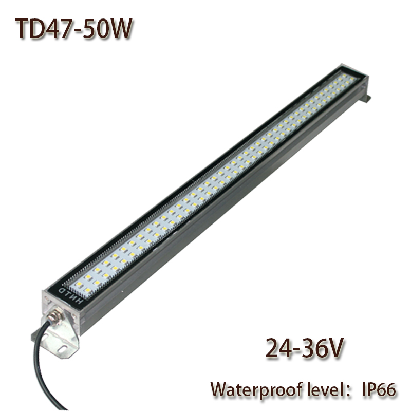 HNTD 50W DC 24V-36V TD47 LED Metal work light CNC MachineWork Tools lighting Waterproof IP67 Led Panel Light 2016 Hot sale